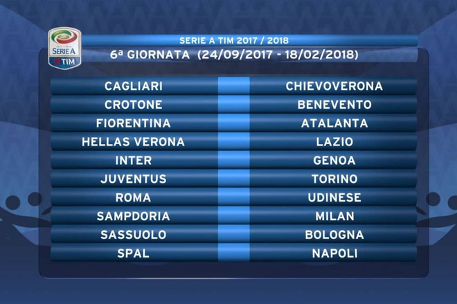 Calendario Serie A 2017 18 Il Tabellone Completo Sport Calcio Quotidiano Net