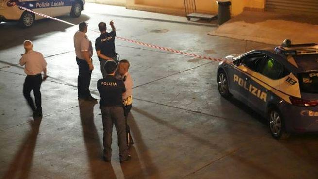 Il luogo dell'attentato (foto Zeppilli)