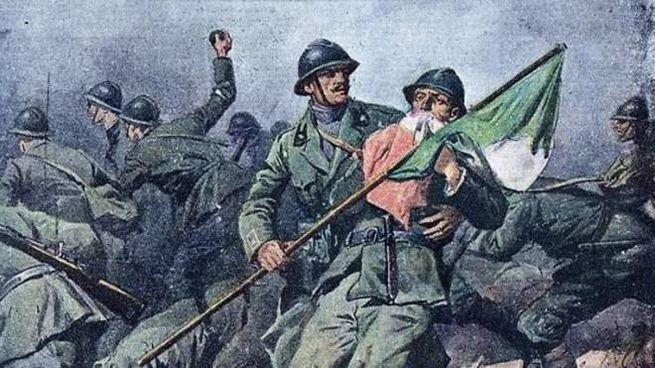 L'Ardito Ciro Scianna muore baciando il Tricolore