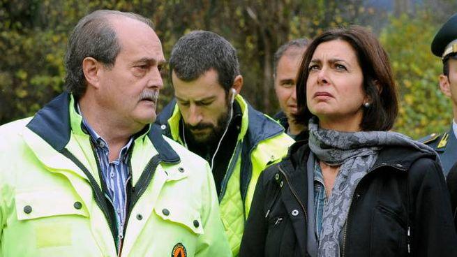 Terremoto, Laura Boldrini ad Arquata il 24 agosto (foto Calavita)