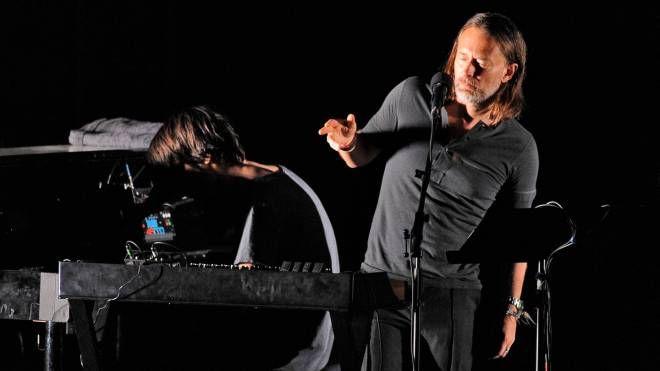 I Radiohead sul palco (foto Calavita)