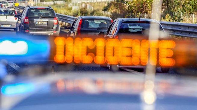 Un incidente in autostrada (foto repertorio)