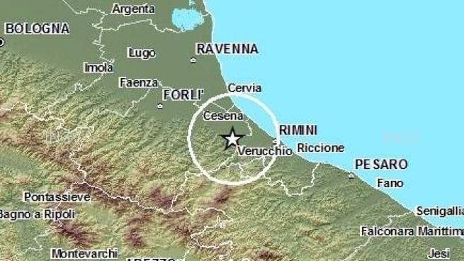 L'area interessata dalla scossa di terremoto (Fonte Ingv.it9