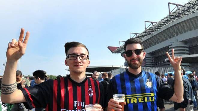 Tifosi Milan e Inter