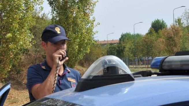 La polizia al Parco Nord