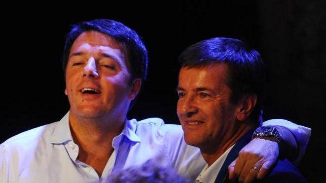 Matteo Renzi e Giorgio Gori alla Leopolda