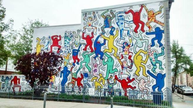 Un murales di Keith Haring (Fonte: Wikipedia)