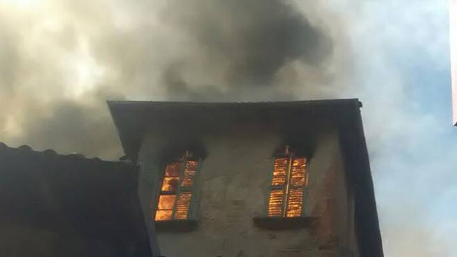 Incendio a Villa Traversi (Vismara)