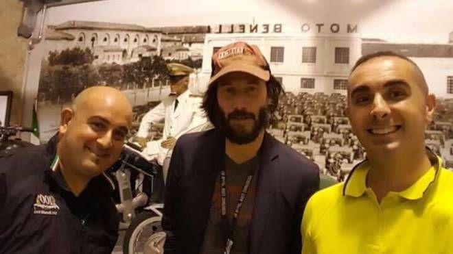 Keanu Reeves al museo Benelli di Pesaro