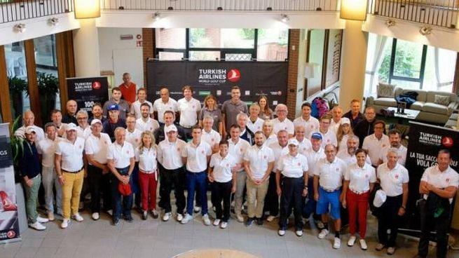 Bologna, i partecipanti al Turkish Airlines World Golf Cup