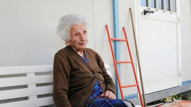 La nonnina sfrattata (foto Calavita)