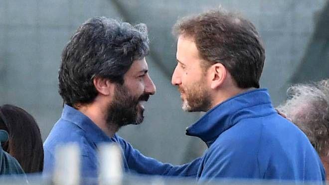 M5s, Roberto Fico e Davide Casaleggio (LaPresse)