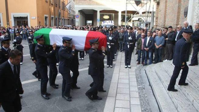 Il funerale di Gabriele Orlandi (foto Ravaglia)