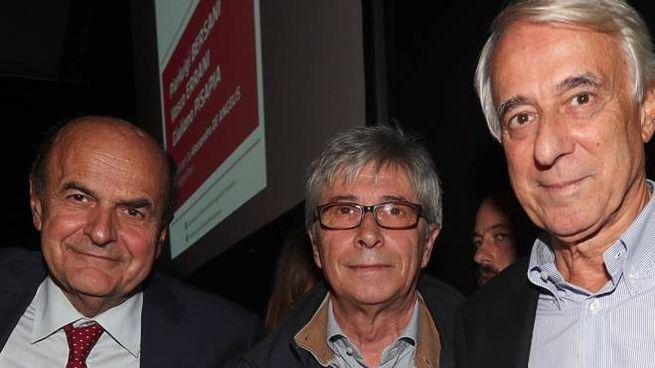 Pierluigi Bersani, Vasco Errani e Giuliano Pisapia (foto Zani)