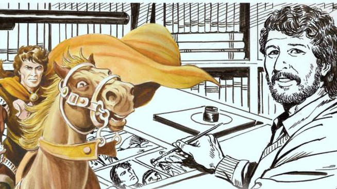Uno dei fumetti dell'artista
