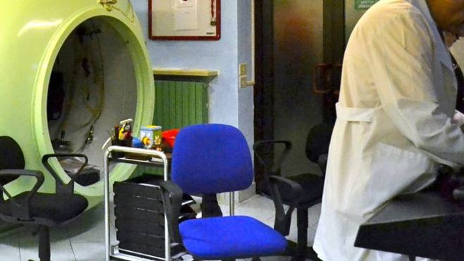 Una camera iperbarica
