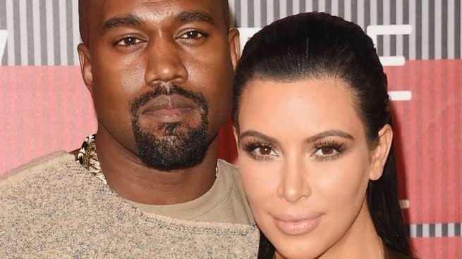 Kanye West e Kim Kardashan (Afp)