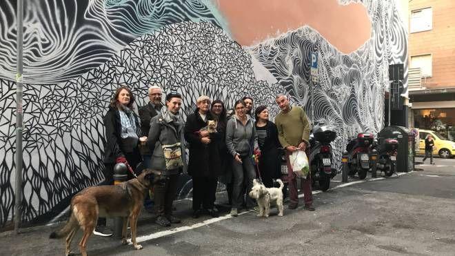 Murales di via Majorana, l'iniziativa dei cittadini