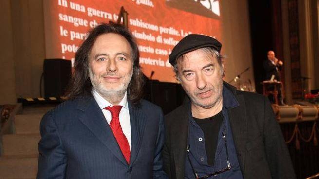Franco Cracolici e David Riondino (foto NewPressPhoto)