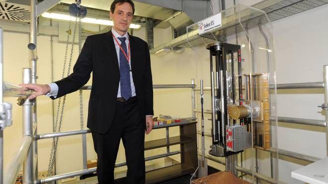 L'ingenger Francesco Rizzi nei laboratori di Leonardo (Studio Sally)