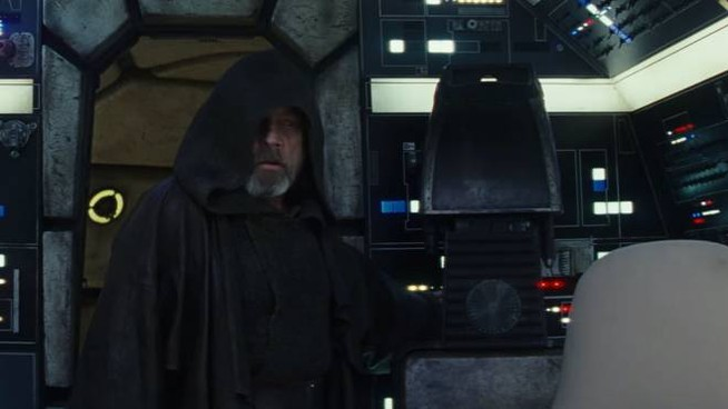 Uno screenshot del teaser di 'Star Wars – Gli ultimi Jedi' – Foto: Lucasfilm