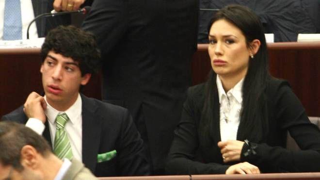 Nicole Minetti e Renzo Bossi (Newpress)