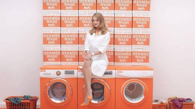 In foto le eccentriche lavatrici 'HermésMatic'
