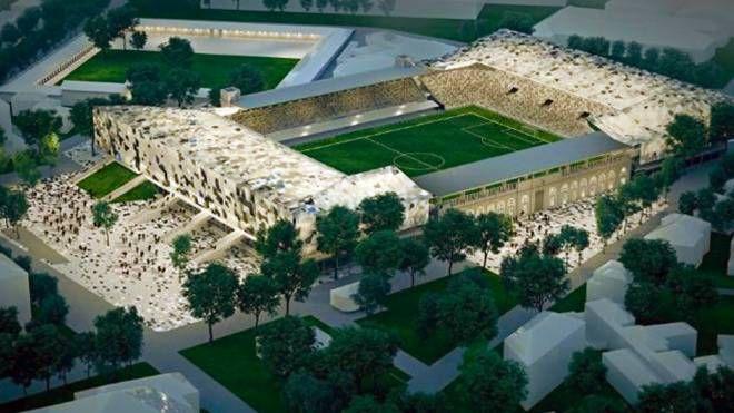 Il rendering del progetto per il nuovo stadio dell'Atalanta (De Pascale)