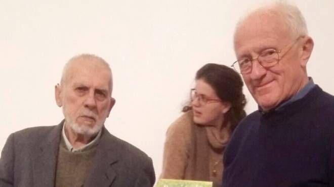 Gianluigi Curioni e il pittore Giancarlo Colli