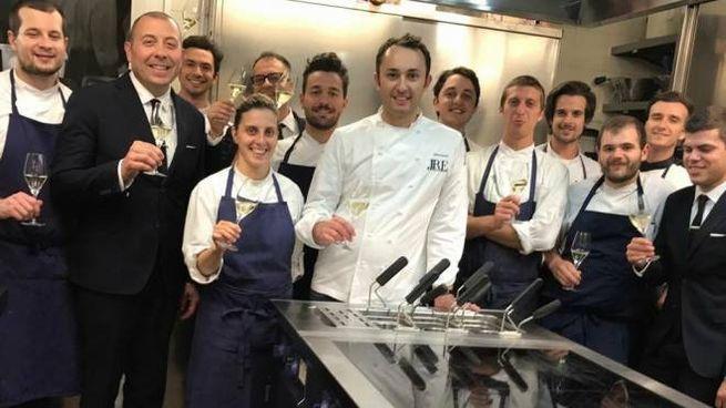 Alberto Faccani e la sua brigata di cucina