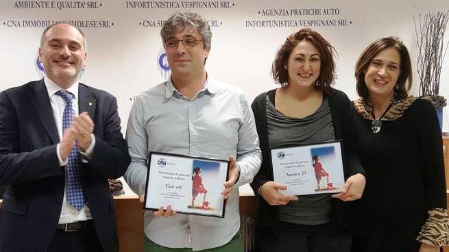 La premiazione nella sede della Cna