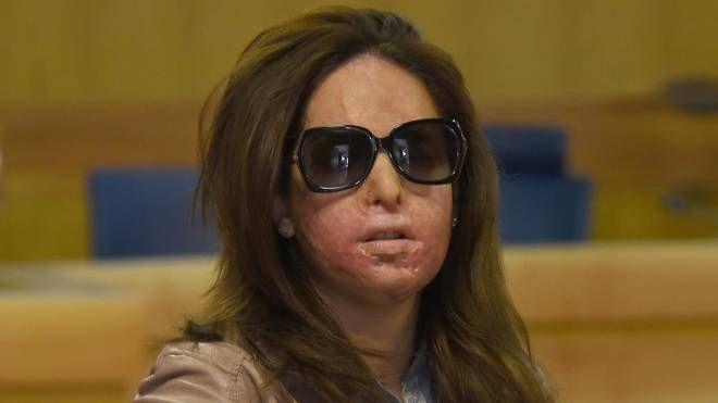 Gessica Notaro in tribunale a Rimini, per il processo contro Eddie Tavares (Foto Migliorini)