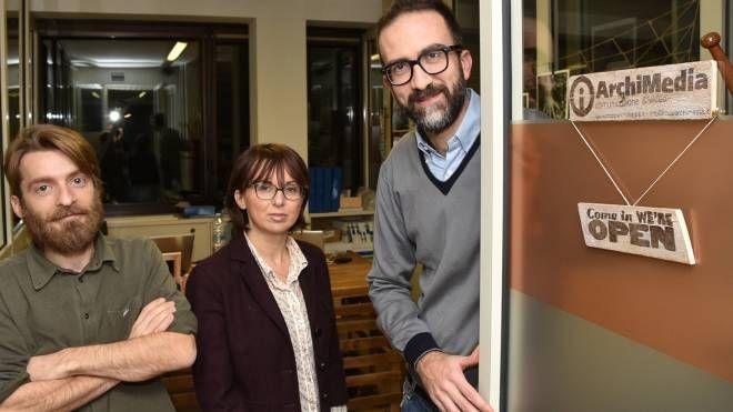 Da sinistra Enrico Samorì, Barbara Boattini e Corrado Ravaioli (foto Fantini)