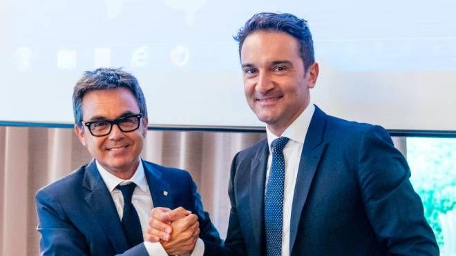 Da sinistra, Giampietro Melchiorri e Simone Mariani (foto Zeppilli)
