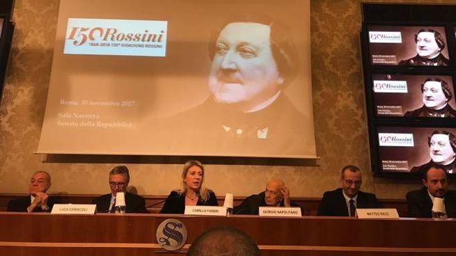 La riunione del Comitato promotore a Roma per le celebrazioni del 150° di Rossini (Foto Dire)