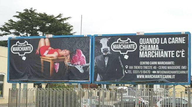 Il discusso manifesto pubblicitario comparso sul viale Sabotino