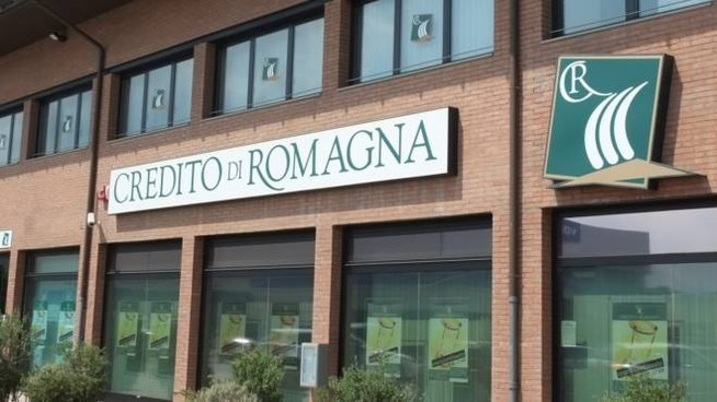 La sede centrale del Credito di Romagna in via Ravegnana a Folrì (Foto Fantini)