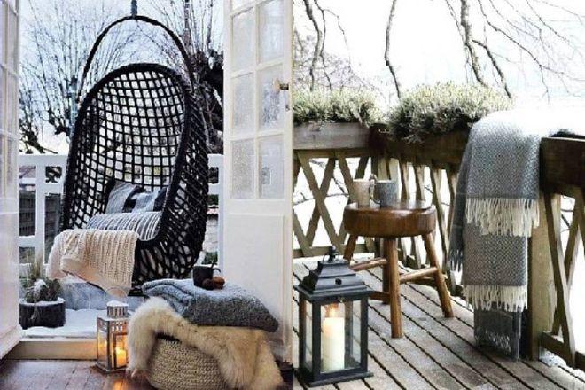 Balconi e terrazze d\'inverno? Ecco qualche idea per renderli ...