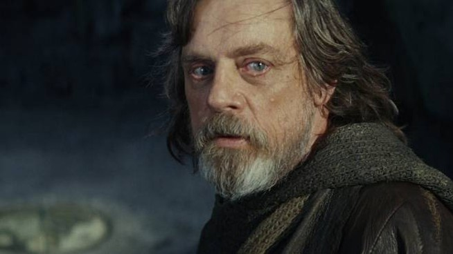 Luke Skywalker è interpretato  da Mark Hamill