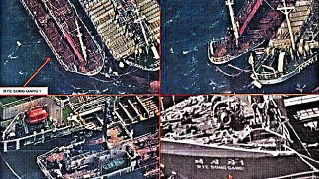 Petroliere cinesi affiancate a quelle nordcoreane (dal sito Chosun Ilbo)