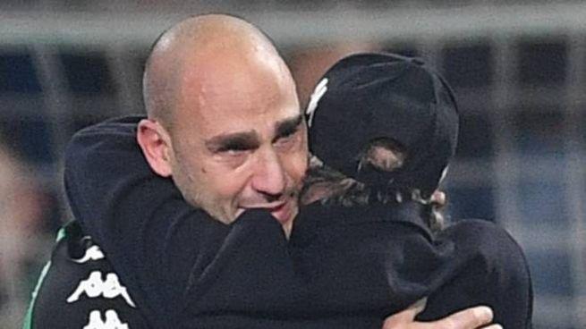 Il pianto dopo la gara contro l'Inter (foto Fiocchi)