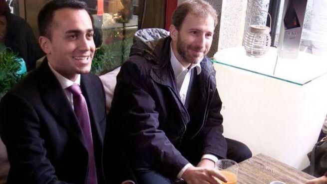 Luigi Di Maio con Davide Casaleggio