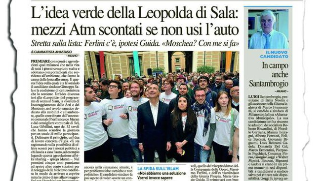 DIETROFRONT A sinistra la promessa elettorale del sindaco Giuseppe Sala quando era  in corsa per Palazzo Marino