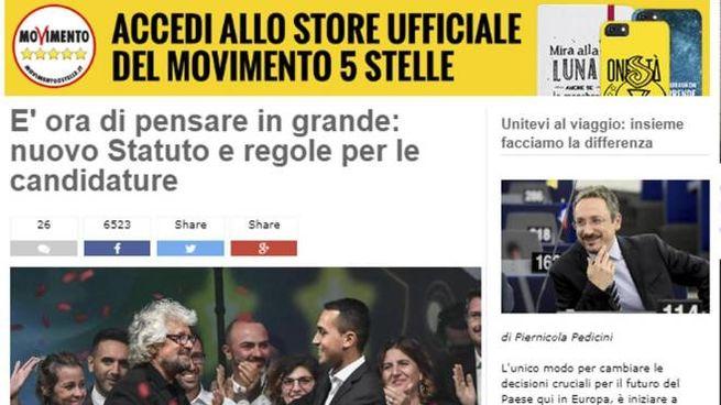 Parlamentarie, il sito del blog di Beppe Grillo  (Ansa)