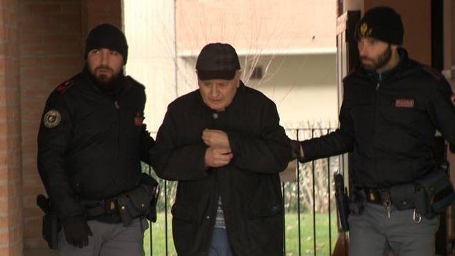 Franco Govi, 70 anni, arrestato dalla polizia dopo l'omicidio della sorella nell'appartamento che condividevano