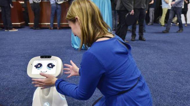 Il robot Buddy presentato al Ces di Las Vegas (Afp)