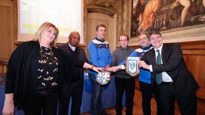 La presentazione del Campionato europeo in Comune a Brescia (Fotolive)