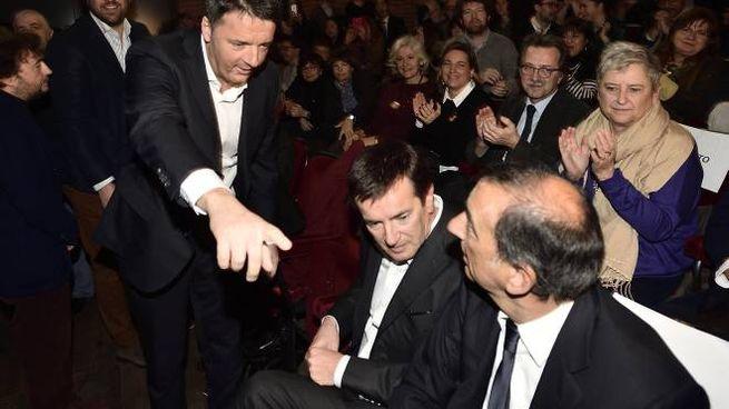 Renzi, Gori e Sala (Ansa)