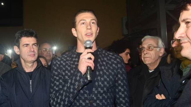 Bernardeschi all'inaugurazione del suo fan club (Delia)