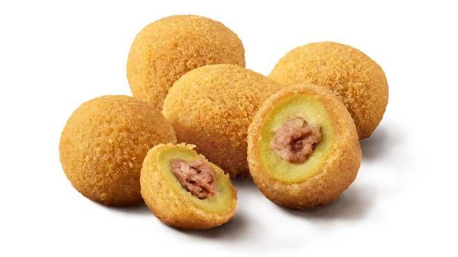 Le olive ascolane prodotte dalla Sia e vendute nei ristoranti  McDonald's Italia
